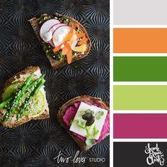 bright veggie color palette