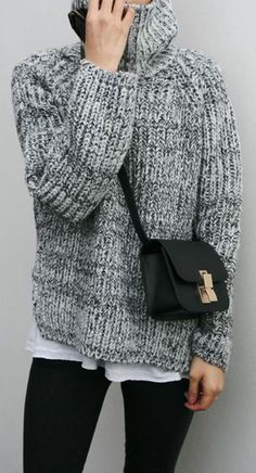outfit inspiration | oversized knitwear