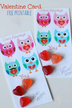 Owl Always Love You Sweet Free Printable Valentine Card handout! I LOVE owls...Super CUTE!