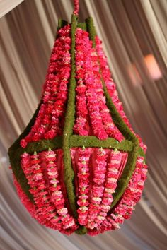 pretty floral chandelier