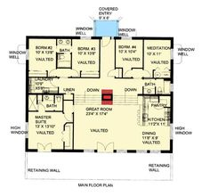 COOL house plans offers a unique variety of professionally designed home plans with floor plans by accredited home designers. Styles include country house plans, colonial, Victorian, European, and ranch. Blueprints for small to luxury home styles. Contemporary Style Homes, Contemporary House Plans, House Plans And More, Best House Plans, House Floor Plans, Earth Sheltered Homes, Insulated Concrete Forms, Earth Bag Homes, Home Plans