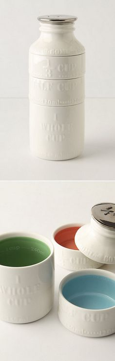 Absolutely darling milk bottle measuring cups  #anthrofave http://rstyle.me/n/mvuj5nyg6