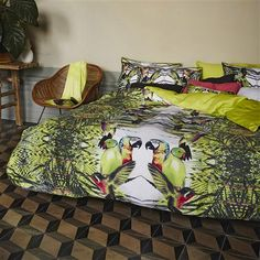 Tropical print in the bedroom! Essenza Coco Double Duvet Cover Set, Multi