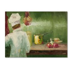 'What's Cooking' by Rio Painting Print on Canvas