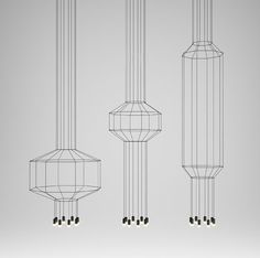 Wireflow Pendant by Arik Levy for VIBIA