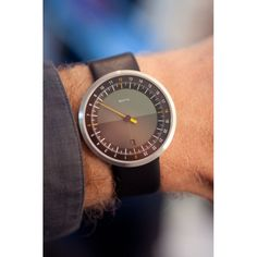 UNO 24 Black Dial Leather
