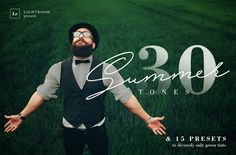 30 Summer Tones Lightroom Presets by Professional Add-Ons on @creativemarket