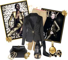 """""""24K GOLD"""" by shortyluv718 ❤ liked on Polyvore"""