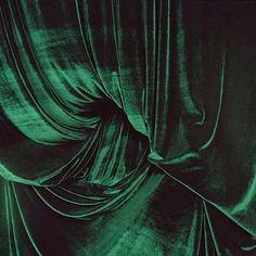 Rich Kelly green velvet drape material....