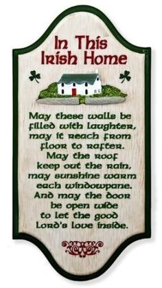 """In This Irish Home"" Irish Blessing x Wall Plaque"