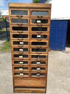 Vintage Oak Haberdashery/shirt/shop Fitting Display Cabinet