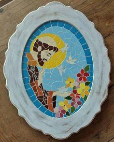 Quadro Sao Francisco de Assis em mosaico