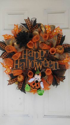 Check out this item in my Etsy shop https://www.etsy.com/listing/450452666/disney-halloween-wreath-mickey-mouse