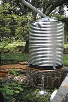 Rainwater cistern Texas home design Ideas Terraza, Water Collection System, Rain Collection, Water Catchment, Rain Catchment System, Water From Air, Rainwater Harvesting System, Sustainable Practices, Sustainable Living