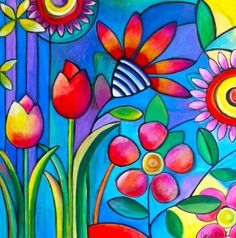 whimsical art | ... her work as whimsical pop art always using vibrant colors and happy
