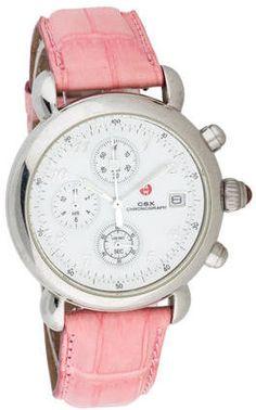 MICHELE CSX CHRONOGRAPH WATCH ON SALE NOW 192.50 reg. 275 Sooooo Pretty! #watch #accessories #fashion #stylish