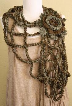 Crochet Jumper, Crochet Scarves, Crochet Clothes, Crochet Hooks, Freeform Crochet, Crochet Shawl, Knit Crochet, Crochet Crafts, Crochet Projects