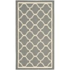 @Overstock.com - Poolside Grey/ Beige Indoor/ Outdoor Rug (2' x 3'7) - Perfect for any backyard, patio, deck or along the pool, this rug is great for outdoor use as well as any indoor use that requires an easy to maintain rug. This rug has an anthracite grey background and displays stunning panel color of beige.  http://www.overstock.com/Home-Garden/Poolside-Grey-Beige-Indoor-Outdoor-Rug-2-x-37/6753749/product.html?CID=214117 $20.99