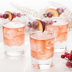 Sugar-frosted plums, grapes and cranberries give a gorgeously wintery look to this sparkling non-alcoholic punch. Learn how to make Welch's holiday punch. Holiday Punch Recipe, Holiday Recipes, Christmas Recipes, Christmas Ideas, Xmas, Christmas Cocktails, Holiday Cocktails, Beach Cocktails, Wine Cocktails