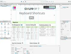Axure Keyboard Shortcuts - Speed up your Axure wireframing