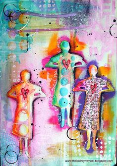Art Journal - 'Betty' by thekathrynwheel, via Flickr #colorful #figurative
