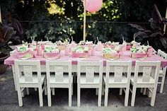 Vintage Strawberry Shortcake Birthday Party: Outdoor Seating Area
