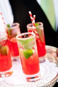 Red Mint Cocktail for a refreshing drink