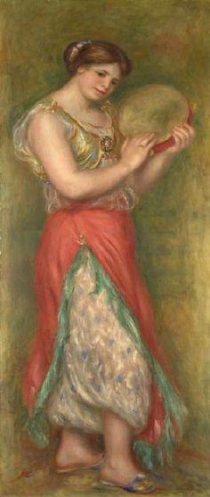 Pierre-Auguste Renoir - Dancing Girl with Tambourine