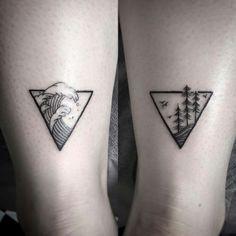 unique Tattoo Trends - Mens Triangle Nature Simple Wave Back Of Leg Tattoos. - unique Tattoo Trends - Mens Triangle Nature Simple Wave Back Of Leg Tattoos. unique Tattoo Trends - Mens Triangle Nature Simple Wave Back Of Leg Tat. Element Tattoo, 12 Tattoos, Body Art Tattoos, Mini Tattoos, Tattoos Of Trees, Tattoos Bein, Henna Tattoos, Forearm Tattoos, Simple Wave Tattoo