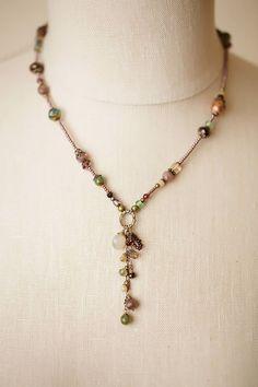 """Anne Vaughan Designs - Mauve Mix 17-19"""" Dangle Tassle Necklace, $66.00 (https://www.annevaughandesigns.com/mauve-mix-handmade-dangle-tassle-gemstone-necklace/)"""
