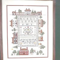 Around The Palace Green Sampler Counted Cross Stitch Kit 29637 14 x 18 Williams