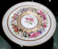 ANTIQUE Mre IMPE IMPERIAL SEVRES FINEST HAND PAINTED PORCELAIN CUP & SAUCER SET