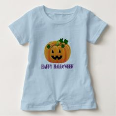 Happy Halloween Jack O'Lantern Baby Romper - Halloween happyhalloween festival party holiday