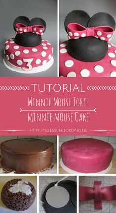 Minnie Mouse Torte Anleitung | Minnie Mouse Cake Tutorial | süß und cremig - Foodblog