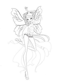 There Is A Secret Code To Unlock The Dreamix Coloring Pages Featuring Bloom Stella Flora As Seen Above Credit Winx