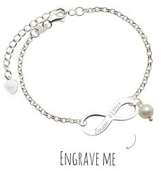 Infinity Silver Bracelet 'Forever'