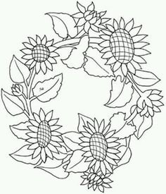 """Képtalálat a következőre: """"sunflower pattern printable"""" Mandala Coloring, Colouring Pages, Coloring Books, Floral Embroidery Patterns, Quilt Patterns, Embroidery Designs, Sunflower Pattern, Sunflower Mandala, Book Of Shadows"""