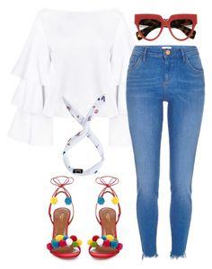 Untitled #4618 by stylistbyair on Polyvore featuring polyvore fashion style River Island Aquazzura Prada clothing
