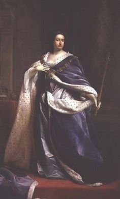 Queen Anne sporting the Order of St George - very English indeed!  Anne was not only the last of the Stuart monarchs, she was the last monarch of England.