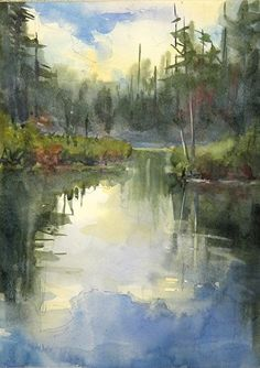 Passage by Sarah Yeoman Watercolor ~ 20 x 16