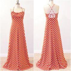 1970s Chevron Striped Sun Dress  @Nissa Redmond looks like Candys Dress!