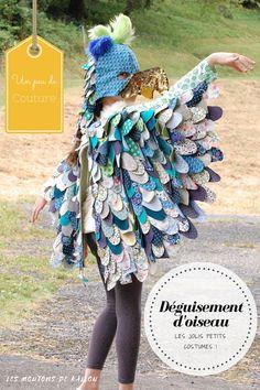 Déguisement d'oiseau pour enfant, costume pour carnaval, un projet couture interessant!