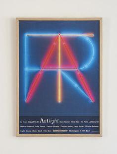 Galerie Beyeler Poster 2000 – hellethygesen.com Dan Flavin, Jenny Holzer, James Turrell, Poster Making, Light Art, Art Decor, The Outsiders