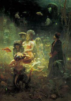 """Ilya Repin """"Sadko in the Underwater Kingdom"""" 1876"""