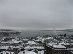 Geneva from the cathedral in winter