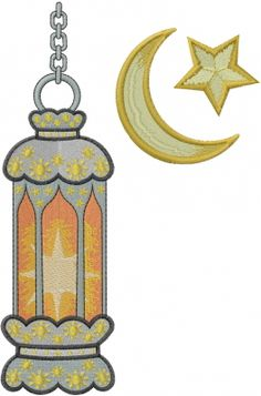 Religious Embroidery Design: Ramadan Lantern from Machine Embroidery Designs