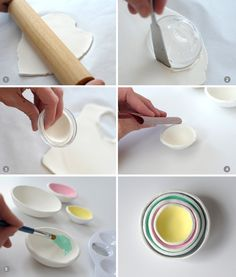 DIY air dry clay nesting bowls on aliceandlois.com