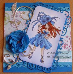 Pretty in blue.   Image by Make it crafty