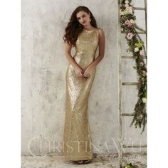 ffb03dfa73d Christina Wu Celebrations 22704 A fully sequined gown meant to capture  light in a sparkling display