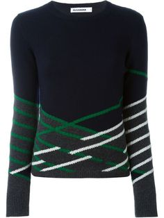 Shop Jil Sander graphic intarsia sweater  in Ottodisanpietro from the world's best independent boutiques at farfetch.com. Shop 300 boutiques at one address.